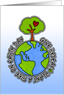 give releaf - plant a tree on earth day card