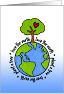 love the earth, plant a tree card