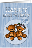 Happy Anniversary - 56 years card