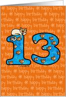 thirteenth birthday card