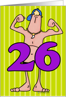 birthday guy - twenty-six card