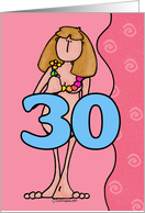 birthday woman - thirty card