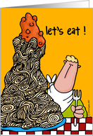 let's eat ! card
