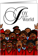 Joy to the World - African American Christmas card