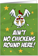 Pediatric Cancer - Ain't No Chickens card