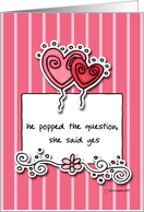 wedding/engagement party invitation card