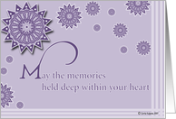 may the memories held deep within your heart card
