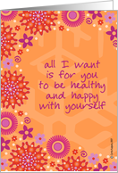 encouragement - healthy and happy card