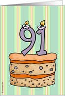 birthday - cake & candle 91 card