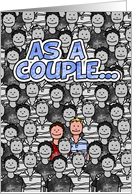 Gay Couple Stands Out - Happy Anniversary card