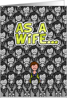 One in a Million Wife - Happy Birthday card