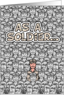 Soldier - Happy Father's Day! card