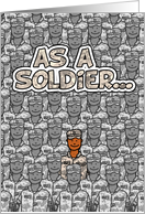 Soldier (African American) - Happy Father's Day! card