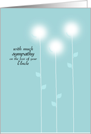 Sympathy - Loss of Uncle card