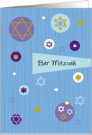 Bar Mitzvah Invitation - Stylish and Modern card