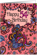 Happy Birthday - Mendhi - 54 years old card