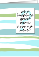 who inspires? - Boss's Day card