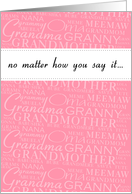 Grandmother in many languages - Grandparents Day card
