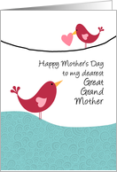 Great Grandmother - birds - Happy Mother's Day card