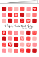To My Aunt - Hearts and Squares - Valentine's Day card