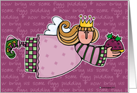happy holidays - figgy pudding card