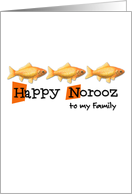 Happy Norooz - to my family card