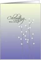 Pussywillows Memorial Invitation - Celebrating a Life Well Lived card