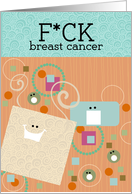F*ck breast cancer card