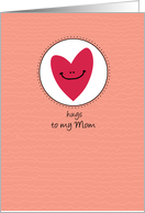 Hugs to my Mom - heart - Get Well card