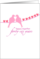 Forty-Sixth Wedding Anniversary - Doves and Hearts card
