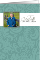 Teal Memorial Service Invitation - Customized Photo card