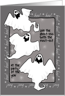 halloween - ghost invitation card