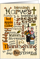 Boyfriend - Thanksgiving - Word Cloud card