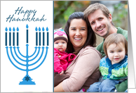 Hanukkah Menorah - Customized Photo card