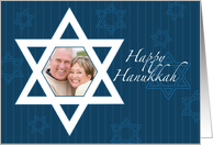 Hanukkah Star of David - Customized Photo card