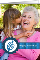 Hanukkah Dreidel - Customized Photo card