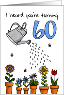 Wet My Plants - 60th Birthday card
