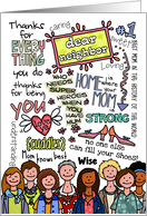 Mother's Day Wordcloud - Neighbor card