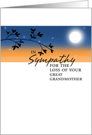 Loss of Great Grandmother - Sympathy card