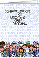Congratulations - Chief Resident (General) card