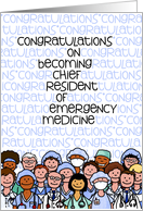 Congratulations - Chief Resident of Emergency Medicine card