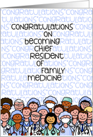 Congratulations - Chief Resident of Family Medicine card
