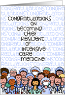 Congratulations - Chief Resident of Intensive Care Medicine card