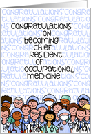 Congratulations - Chief Resident of Occupational Medicine card