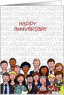 Congratulations - Happy Anniversary card