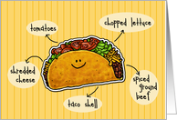 National Taco Day - Cute Taco card