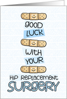 Hip Replacement Surgery - Bandage - Get Well card