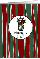 for Mom & Dad - Mistle-toe - Zombie Christmas card