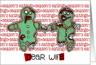 for Wife - Zombie Christmas - Season's Eatings card
