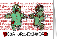 for Grandchildren - Zombie Christmas - Season's Eatings card